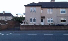 Spacious 3 Bedroomed upper flat in Salsburgh. Driveway & rear garden. Close to J5 & J6 M8.