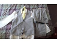 Boys suit - Next age 13yrs. Waistcoat, shirt, tie and trousers. Worn only once.