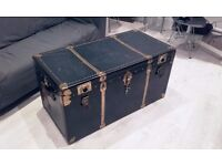 Large Vintage Chest Trunk Luggage