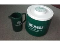 Chequers Deluxe Scotch Whisky Ice Bucket and Water Jug