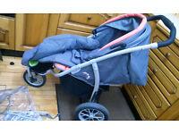 Mamu MU3 buggy by Mamas & Papas with accessories and spare rain cover, pushchair pram
