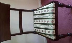 4 x mahogony dining chairs