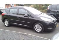 2009 PEUGEOT 207 SW 5 DOOR ESTATE 1.4 PETROL LONG MOT NO ADVISORY'S LOW TAX AND INSURANCE