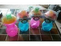 3 New Munchkin spill proof training bottles