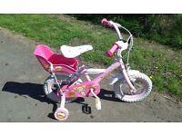 Girls bike, Halfords / Apollo Cupcake, 12 inch, pink