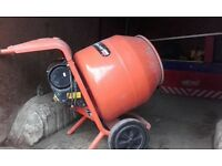 Cement mixer plus numerous work tools