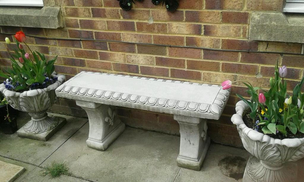 Concrete garden bench in North Shields Tyne and Wear Gumtree