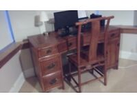 Large desk and matching chair