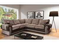 Brand New Extra Large Brown & Mocha Corner Sofa