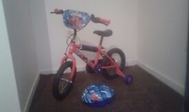 Childs Almost New Bike and Helmet