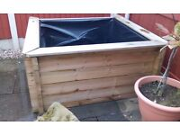 WOODEN POND PATIO 260 GALLON 1.5M X 1.5M 32 INCH HEIGHT