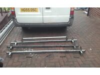 3bar system roof rack with roller for transit van ,rubbers and bolts inc ,good condition