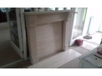 Fire surround with backplate and hearthplate