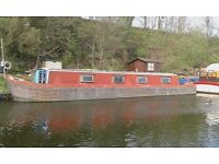 55ft Narrow Boat with nice West London Mooring (needs urgent work doing)