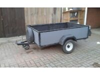 6' x 4' TRAILER, CAR BOOTS, TIP RUNS