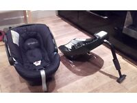 Car seat Cybex Aton + isofix base + adapters