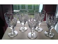 Tutbury Crystal Sherry Glasses