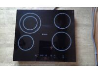 Hotpoint touch control ceramic hob electric, hardly used excellent