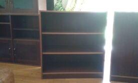 Solid Dark Wood Shelf Unit.