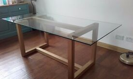 Marks & Spencer Oak and Glass Dining Table (Colby)