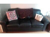 3 seater black ikea sofa £40.