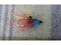 Salmon fly brooch
