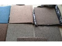 24 new assorted hard wearing Heuga carpet tiles, 500mm sq each, sold together or in batches, £2 each