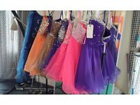 Job Lot of Bridesmaid, Prom, Party, Evening dresses, ladies and children, 67 in total