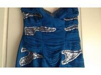 SZ 12 LYPSY ROYAL BLUE SEQINN DRESS