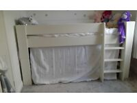 Steens Midsleeper and 3+2 Chest of drawers. Solid White. Excellent condition