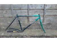 "trek 820 cromo mountain track bike frame - 26"" wheel adventure touring 18"""
