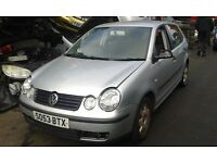 2003 Volkswagen Polo 1.4 Twist 5dr silver manual BREAKING FOR SPARES