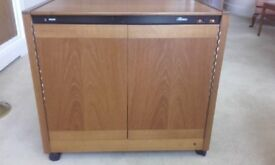 Hostess Heater Trolley. Teak , Centre shelf and hotplate