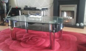 Harvey's Double Black Glass Coffee Table
