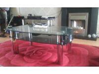 Harvey's Double Black Glass Coffee Table