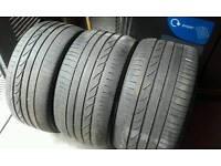 BMW X6 X5 part worn Bridgestone runflat tyres