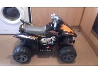 childs quad bike with battery fully working