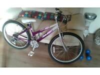 Raleigh K rush girls alloy mountain bike 15 inch frame 24 inch wheels
