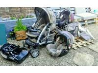 Graco Travel system with spare car seat + many accessories