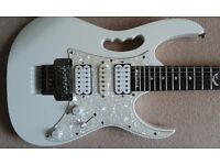 Ibanez Jem 555 Steve Vai signature model guitar in white