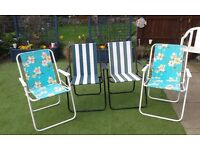 4 Garden/Picnic Chairs