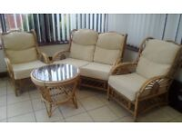 3 piece plus table wicker furniture.good condition