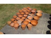 Selection of smaller garden pots