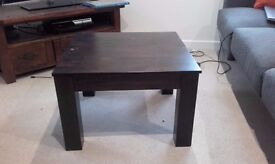 Dark wood coffe table