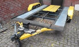 Car transporter twin wheel base new hand winch.