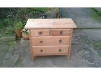 Rustic 2 over 2 Pine Chest of Drawers