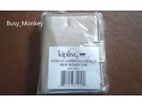 ~ Brand New ~ Kipling New Money Wallet ~ Gleaming Gold ~ £25~