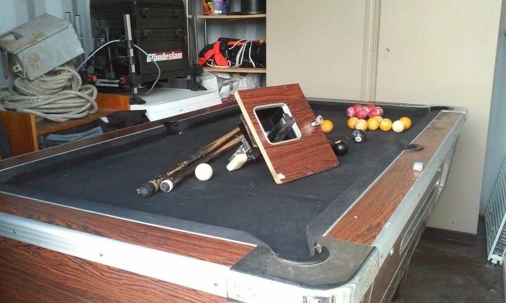 Ft X Ft Slate Bed Pool Table Spares Or Repair In Hyde - Pool table slate repair