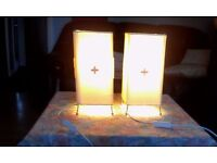 2 bedside Lamps Him & Hers (FULL WORKING ORDER)