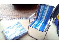Folding garden chair and matching lounger